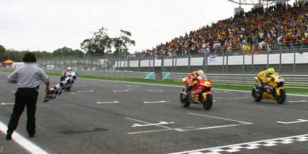 #10: Dutch TT 2017 in Assen: Valentino Rossi (Yamaha) 0,063 Sekunden vor Danilo Petrucci (Pramac-Ducati)