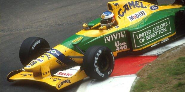 """Michael Schumacher auf dem Weg zum Sieg: Beim Grand Prix von Belgien 1992 in Spa-Francorchamps gewinnt """"Schumi"""" erstmals in der Formel 1. Wir blicken zurück mit den schönsten Aufnahmen von Schumachers Premierensieg für Benetton!"""