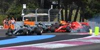 Kollision zwischen Vettel und Bottas