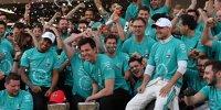 Die besten Bilder: So feierte Mercedes die Rekord-WM