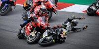 Barcelona: Johann Zarco und Andrea Dovizioso crashen in Kurve 2