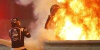 Feuerunfall von Grosjean in Bahrain: Die 15 spektakulärsten Fotos