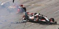 In Bildern: Der Re-Start-Crash beim Formel-1-Rennen in Mugello