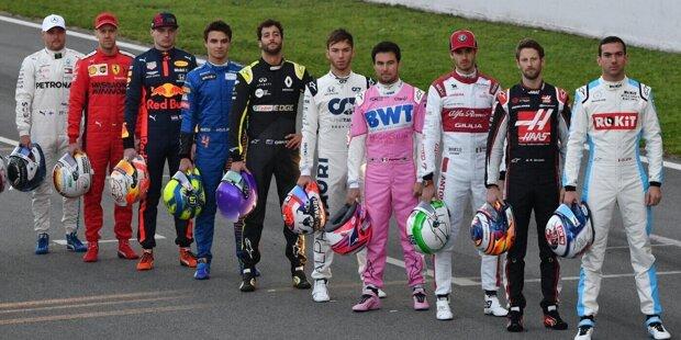 """Welcher Formel-1-Fahrer steht in den sozialen Netzwerken auf der Pole-Position? Wir haben uns die Follower-Zahlen auf Facebook, Instagram und Twitter angesehen (Stand: 2. März 2020) und präsentieren die """"Gesamtwertung"""" mit gerundeten Daten in dieser Fotostrecke!"""