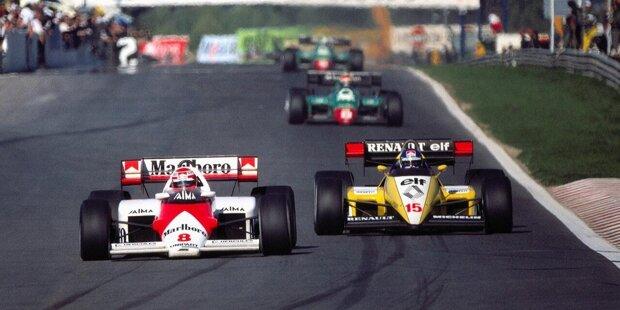 Niki Lauda kommt 1984 zwar als WM-Spitzenreiter zum Saisonfinale nach Portugal, doch in Estoril läuft es für ihn nicht nach Plan. Schon im Qualifying ...