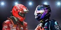 Schumacher und Hamilton im Statistik-Vergleich