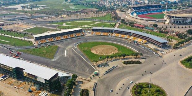 Rund einen Monat vor dem geplanten Formel-1-Rennen in Vietnam ist die Strecke fertiggestellt. Klicke dich durch die Bilder!