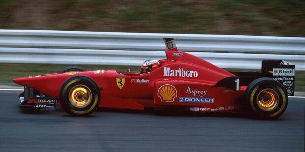 2020: Der Ferrari SF1000 ist fast komplett in leuchtendes Rot gehalten. Doch so sah der Formel-1-Ferrari nicht immer aus ...