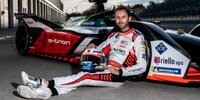 Rene Rast zum ersten Mal im Formel-E-Auto von Audi