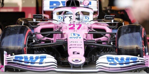 """Gestern noch """"Ruheständler"""", heute wieder Formel-1-Fahrer: Hier sind die ersten Bilder vom sensationellen Grand-Prix-Comeback von Nico Hülkenberg in Silverstone, wo er bei Racing Point für Sergio Perez einspringt!"""