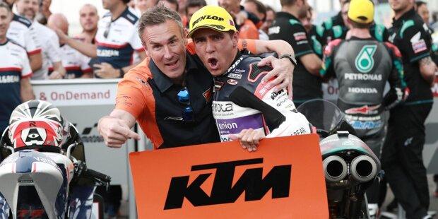 Brad Binder ist mit insgesamt 15 Siegen (Moto3: 7, Moto3: 8) der erfolgreichste KTM-Fahrer. 2020 tritt er für das MotoGP-Werksteam an.