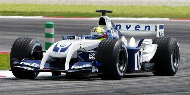 Ralf Schumacher zählt zu den erfolgreichsten Formel-1-Fahrern aus Deutschland. In 180 Rennen zwischen 1997 und 2007 gelangen ihm sechs Grand-Prix-Siege für Williams. Welche Formel-1-Autos Schumacher in dieser Zeit bewegte, das zeigen wir in dieser Fotostrecke!