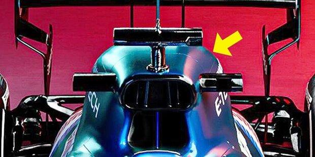 """Die """"dicke"""" Airbox am Alpine A521 von Fernando Alonso und Esteban Ocon ist eine Überraschung in der Formel-1-Saison 2021. Und viele Beobachter fragen sich, was genau dahinter steckt. In dieser Fotostrecke liefern wir die Erklärung und die technischen Hintergründe!"""