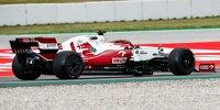 Alfa-Romeo-Test in Barcelona: Die Radkappen sind wieder da