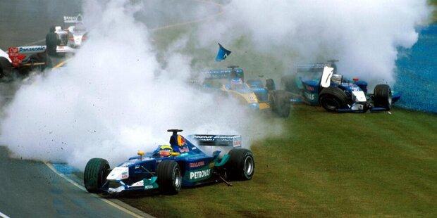 #10 Ralph Firman - 6 Runden (Australien 2003): Als amtierender Meister der japanischen Formel Nippon darf der Ire 2003 eine Saison für das chronisch klamme Jordan-Team bestreiten. Sein Debüt im Albert Park misslingt jedoch vollkommen. Im Qualifying belegt Firman immerhin Rang 17, doch am Sonntag kommt er nicht weit.