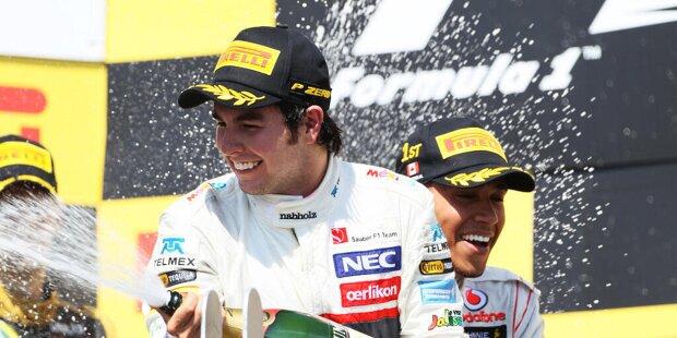In Spielberg feiert Sergio Perez seinen 200. Formel-1-Grand-Prix. In seinen bisherigen zehneinhalb Formel-1-Saisons stand der Mexikaner dabei zwölfmal auf dem Podest und konnte zwei Rennen gewinnen. Wir blicken auf seine Teilnahmen an der Podiumszeremonie.