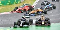 Der Startcrash des Ungarn-Grand-Prix 2021 in Bildern