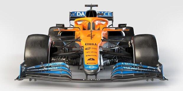 So sieht er aus, der neue McLaren MCL35M für die Formel-1-Saison 2021! Auf den folgenden Bildern stellen wir das Fahrzeug im Detail vor.