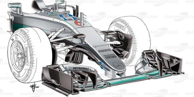 Mercedes ist in der Formel 1 seit Beginn der Hybridära im Jahr 2014 ungeschlagen. Trotzdem hat man sich nie auf seinen Lorbeeren ausgeruht und das Auto Saison für Saison immer weiter verbessert. Wir blicken auf die wichtigsten Änderungen, die Mercedes im Laufe der Jahre vorgenommen hat.