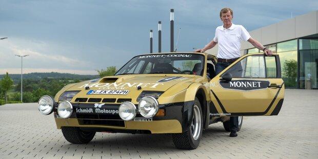 Walter Röhrl und sein Porsche 924 Carrera GTS Rallye