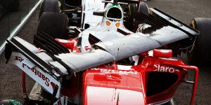 Sebastian Vettel im Gl�ck: Kein Motortausch nach Kwjat-Crash