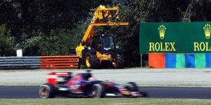 Am Todestag von Bianchi: Formel-3-EM ver�rgert �ber Kran