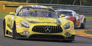 24h Spa 2016: HTP-Mercedes holt Pole unter gelb