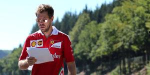 Sebastian Vettel vor Spa: Kampf h�chstens gegen Red Bull