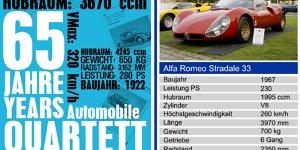 Karten mit PS: 65 Jahre Auto Quartett