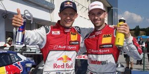 Spitzenreiter Ekström und Rivale Rast im Doppel-Interview