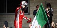Die schönsten Jubelbilder von Kimi Räikkönen in Austin