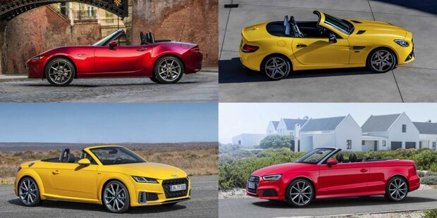 Neuwagen ohne Dach gibt es fast nur noch für viel Geld. Hier sind zehn (kaum mehr) erschwingliche Cabrios für Frühling/Sommer 2020 ...