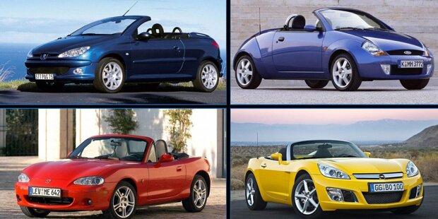 Offener Fahrspaß muss nicht teuer sein! Wir haben 10 günstigen gebrauchten Cabrios, mit denen Sie den Sommer genießen können ...