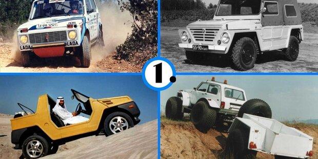 Der russische Geländewagen ist seit 1977 Kult - Und hat einige Varianten hervorgebracht ...