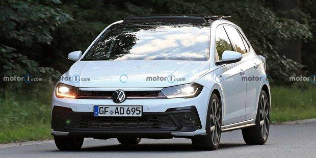 VW Polo GTI Facelift (2021) als Erlkönig