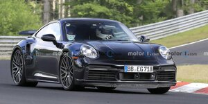 Porsche 911 Hybrid mit nur zwei Sitzen am Nürburgring erwischt