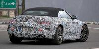 Mercedes-AMG SL (2022) ist mit immer weniger Tarnung unterwegs
