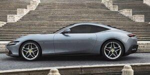 Autsch! Ferrari Roma steckt in enger italienischer Straße fest