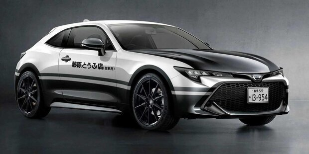 Toyota Corolla AE86 Renderings Initiale D Front