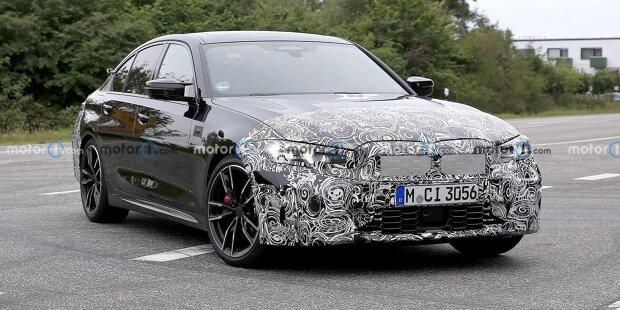 BMW 3er (2022) als M340i-Erlkönig erwischt