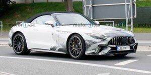 Mercedes-AMG SL (2022) zeigt sich als minimal getarnter Erlkönig