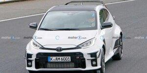 Toyota GR Yaris (2022): Erlkönig mit massivem Flügel erwischt