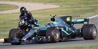 Fahrzeugtausch Hamilton vs. Rossi