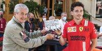 Charles Leclerc bei Dreharbeiten in Monaco