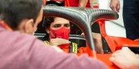 Carlos Sainz: Erster Tag bei Ferrari