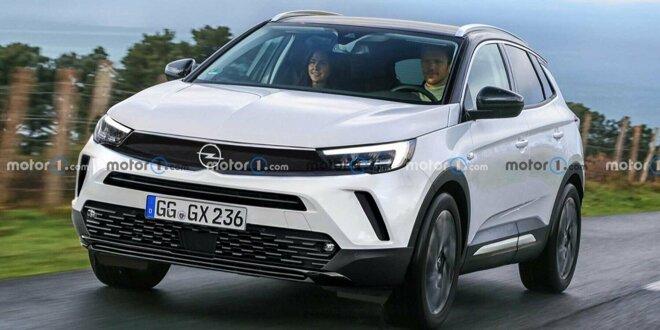 Opel Grandland: Der deutsche Bruder des Peugeot 3008  -  Rendering zeigt subtiles Facelift