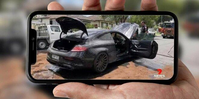 Mercedes-AMG C 63 Coupé fängt Feuer  - Nach peinlichem Burnout-Versuch