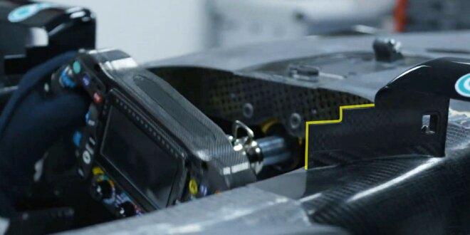 Mercedes: Video zeigt neue Spiegelhalterung am W12 - Nächster Zackenstreich?