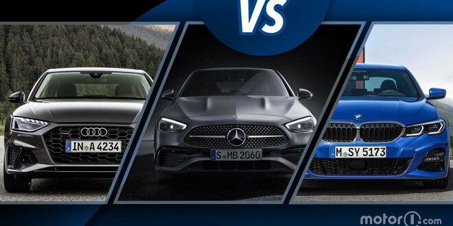 Neue Mercedes C-Klasse im Vergleich mit Audi A4 und BMW 3er - Abmessung, Innenraum, Motoren