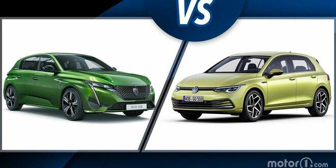 Neuer Peugeot 308 gegen VW Golf 8 im ersten Vergleich - Duell: Frankreich vs. Deutschland